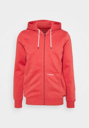 HOODY JACKET  - Huvtröja med dragkedja - normal red