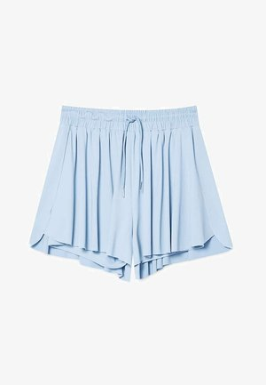 FLIESSENDE STRICKSHORTS STR-EET 01381381 - Shorts - light blue