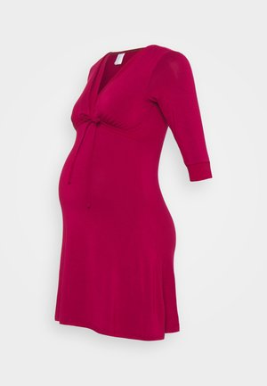 MILK NURSING NIGHTDRESS - Nattskjorte - burgundy