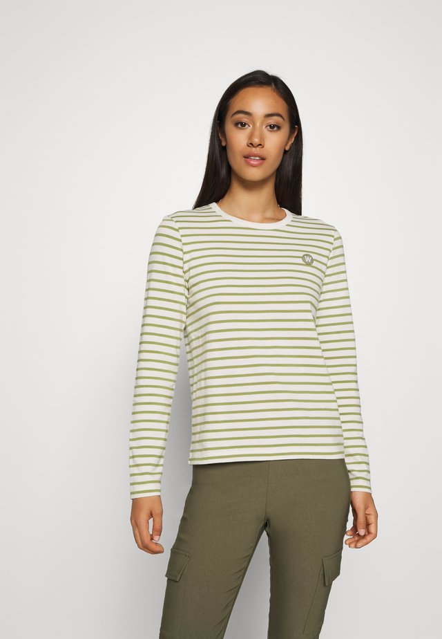 MOA LONG SLEEVE - T-shirt à manches longues - off-white/olive