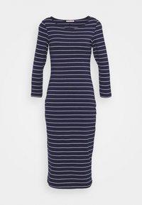 Anna Field - Jersey dress - dark blue/white - 0