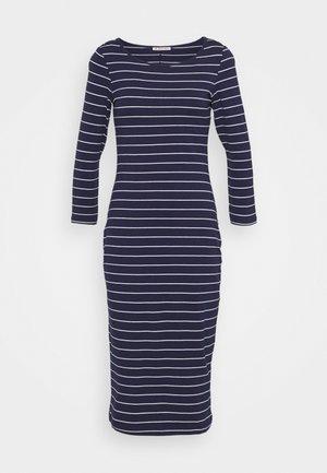 Jerseykleid - dark blue/white