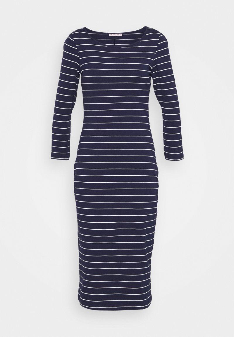 Anna Field - Jersey dress - dark blue/white