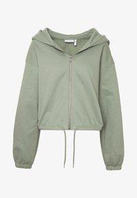 MIMI ZIP HODDIE - Zip-up sweatshirt - sage green