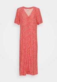 Monki - SILENA DRESS - Skjortekjole - red - 5