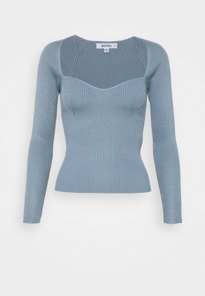 SQUARE NECK SWEETHEART - Strickpullover - blue