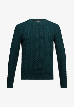 Strikpullover /Striktrøjer - bottle green