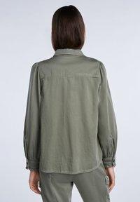 SET - Button-down blouse - khaki - 2