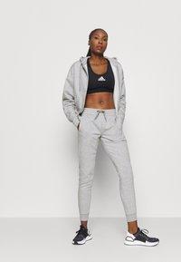 adidas Performance - Zip-up sweatshirt - mottled grey/white - 1