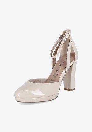 High heels - nude patent / beige