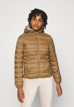 ONLNEWTAHOE CONTRAST HOOD JACKET  - Light jacket - toasted coconut/pumice stone