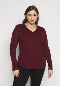 Tommy Hilfiger Curve - SLIM COSY - Long sleeved top - deep rouge - 0