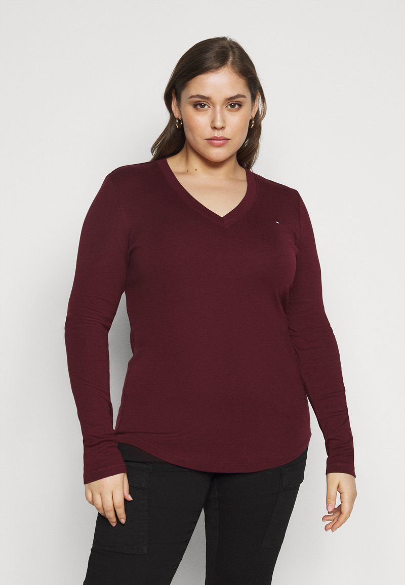 Tommy Hilfiger Curve - SLIM COSY - Long sleeved top - deep rouge