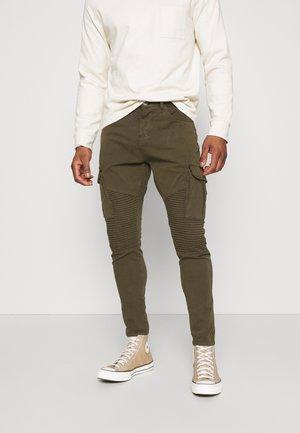 DESERTBIKER - Cargo trousers - khaki