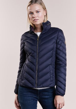 SHORT PACKABLE PUFFER - Dunjakke - dark navy