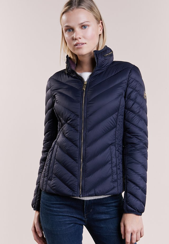 SHORT PACKABLE PUFFER - Gewatteerde jas - dark navy