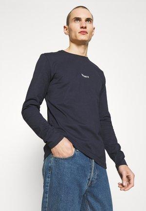 LENS - Long sleeved top - dark navy/white