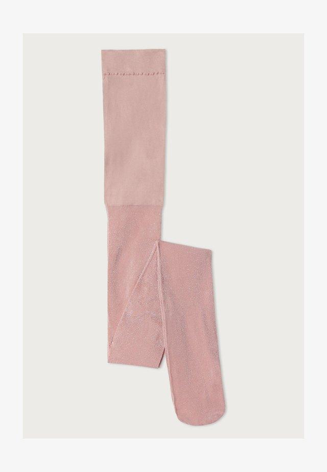 Tights - rosa - pink glitter