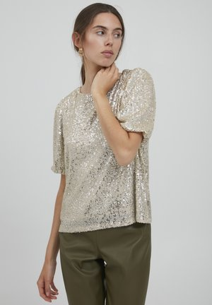 T-shirt con stampa - frosted almond