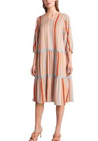 comma - Day dress - terracotta stripes - 0