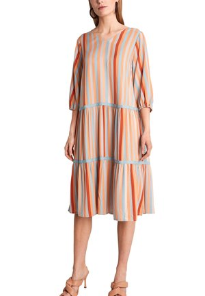 Day dress - terracotta stripes