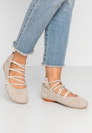 RIGHT NINA - Ankle cuff ballet pumps - medium beige