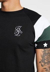 Brave Soul - STAR - Print T-shirt - black combo - 5