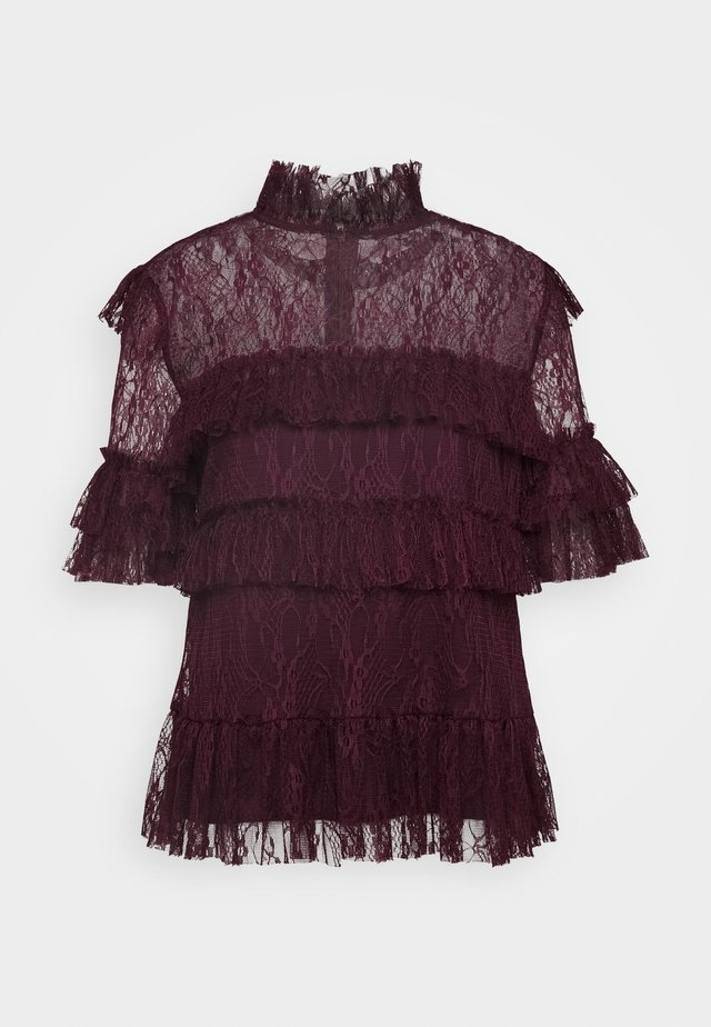 RACHEL BLOUSE - Pusero - deep wine