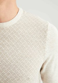 DeFacto - Stickad tröja - beige - 4