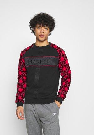 BARCO CREW - Sweatshirt - black/red