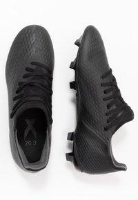 adidas Performance - X GHOSTED.3 FOOTBALL BOOTS FIRM GROUND - Fotballsko - core black/grey six - 1