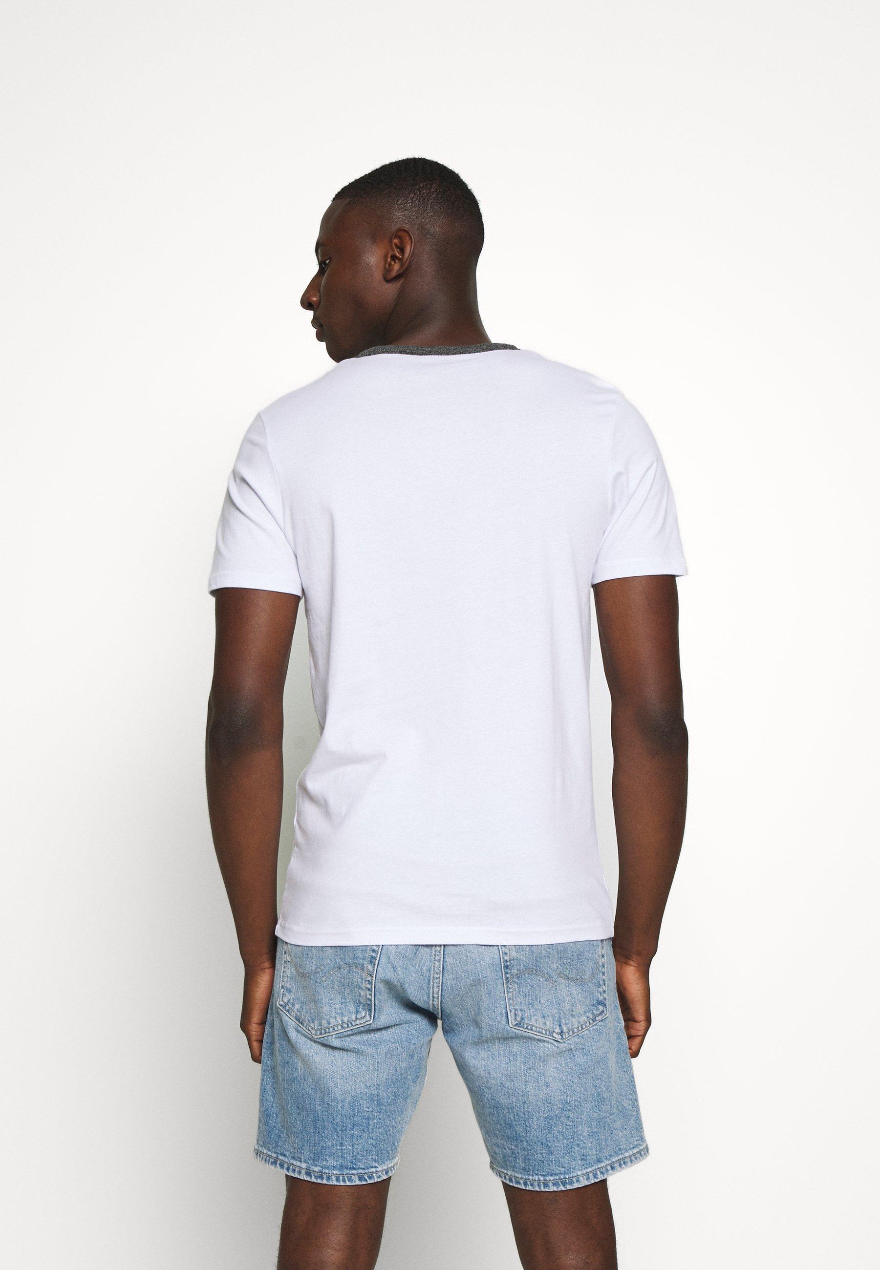 Jack & Jones JCOKALLY TEE CREW NECK - Print T-shirt - white g7c27