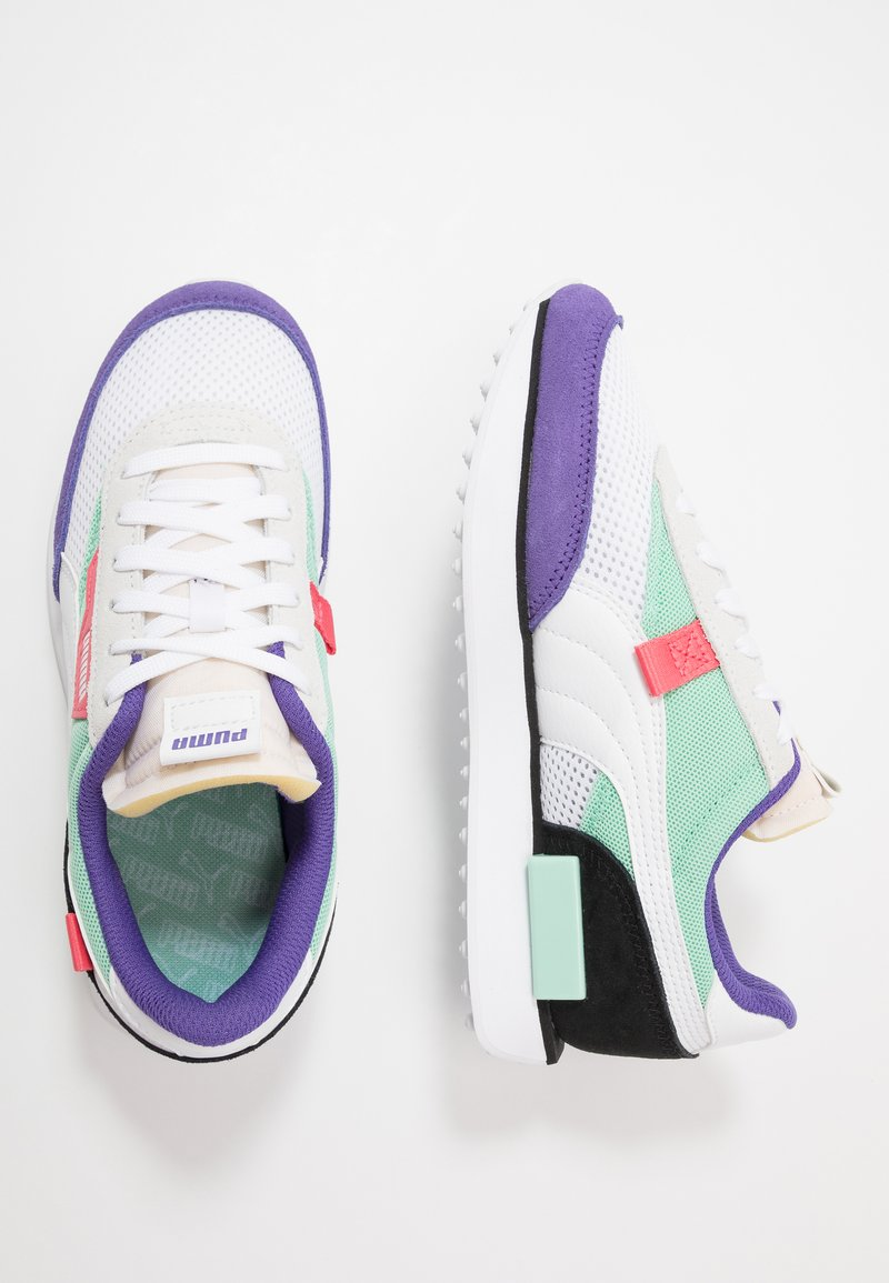 Puma - RIDER STREAM ON - Trainers - white/mist green/black