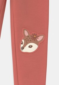 Lindex - MINI DEER PRINT KNEEPATCH - Leggings - Trousers - dusty pink - 2