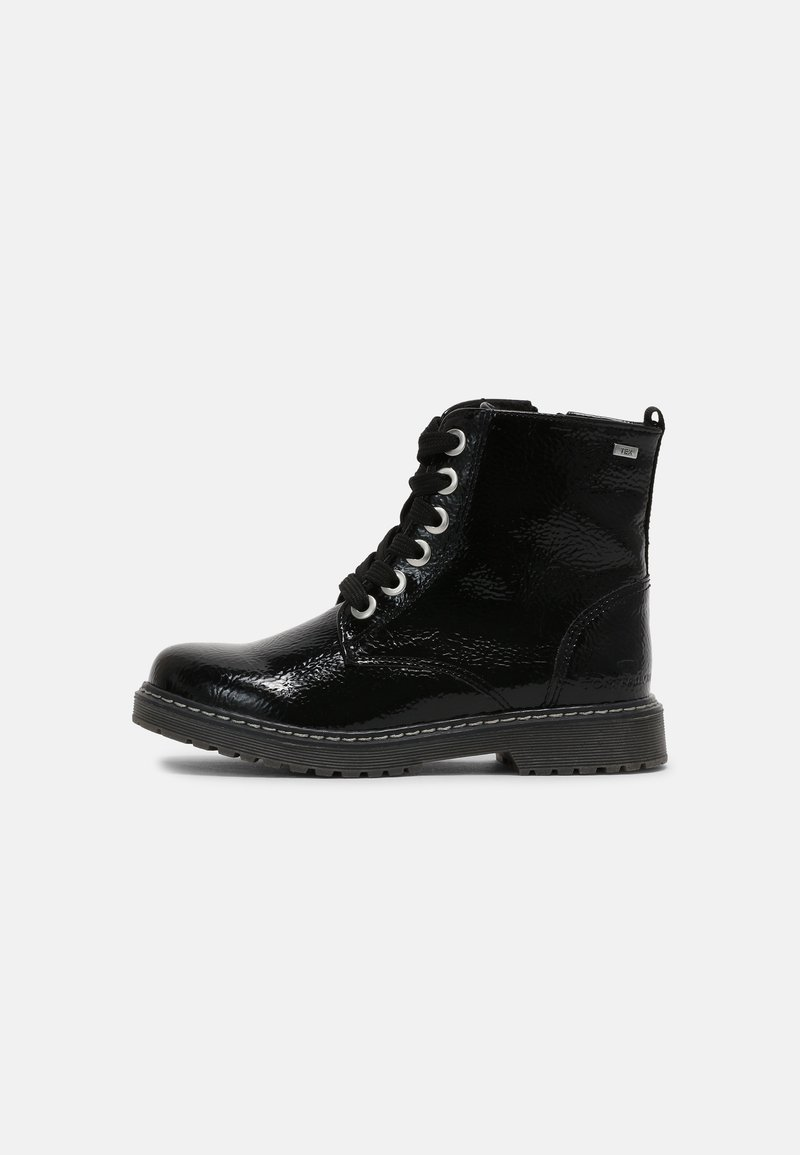 TOM TAILOR - Lace-up ankle boots - black