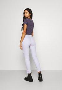 Monki - Trousers - lilac purple dusty light - 2