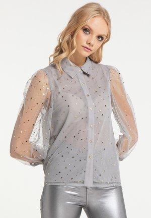 Button-down blouse - asche