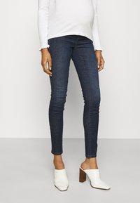 MAMALICIOUS - MLLOLA RECYCLED SLIM LEGGINGS  - Jeans Skinny Fit - dark blue denim - 0