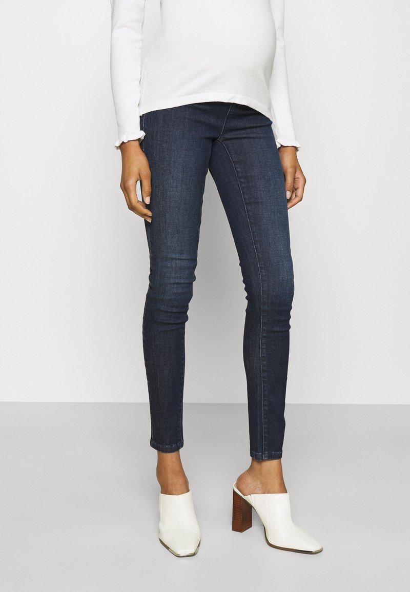 MAMALICIOUS - MLLOLA RECYCLED SLIM LEGGINGS  - Jeans Skinny Fit - dark blue denim
