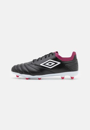 TOCCO PREMIER FG - Moulded stud football boots - black/white/raspberry radiance/pink peacock