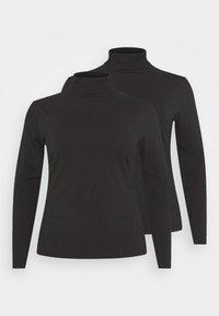 Even&Odd Curvy - 2 PACK - Long sleeved top - black - 3