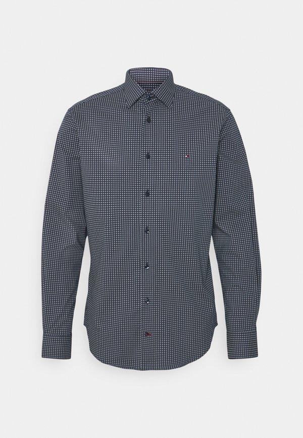 Tommy Hilfiger Tailored GEO DOT - Koszula biznesowa - navy/light blue/granatowy Odzież Męska TAUC