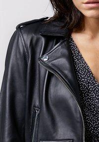 Tigha - ALL TIME FAV BIKER - Leather jacket - black - 3