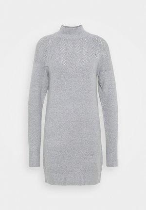 LONGLINE POINTELLE - Strikket kjole - grey marl