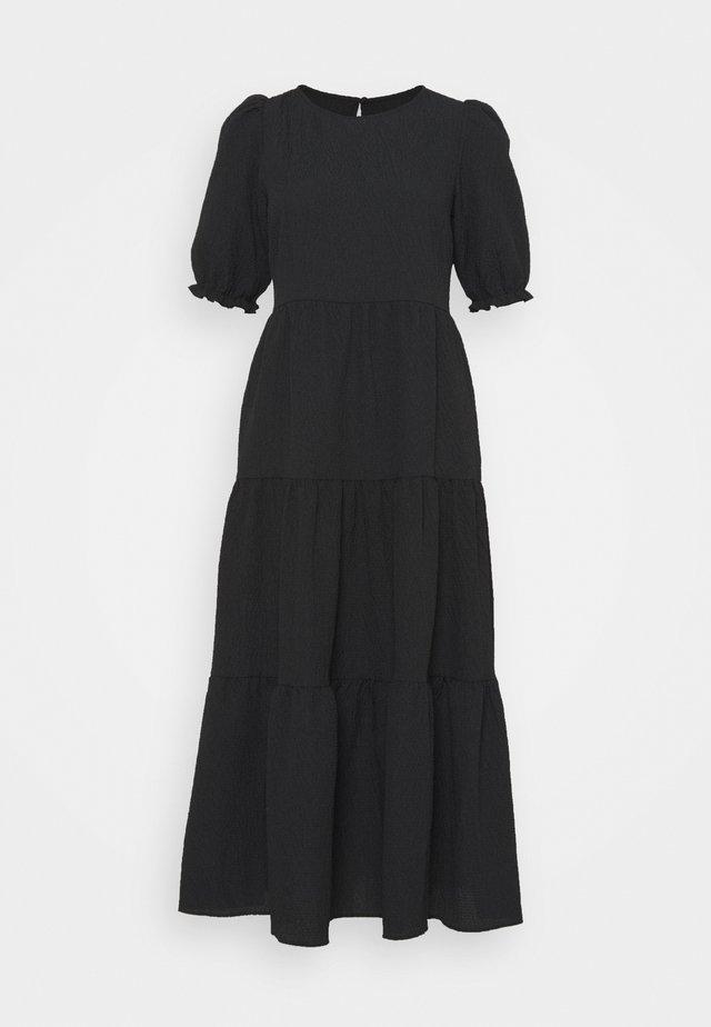 TA TEXTURE PUFF SLV TIER MIDI - Maxi dress - black