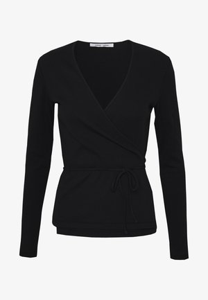 SARAIWRAP - Maglietta a manica lunga - black
