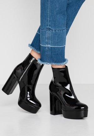 MALINKA - High heeled ankle boots - black