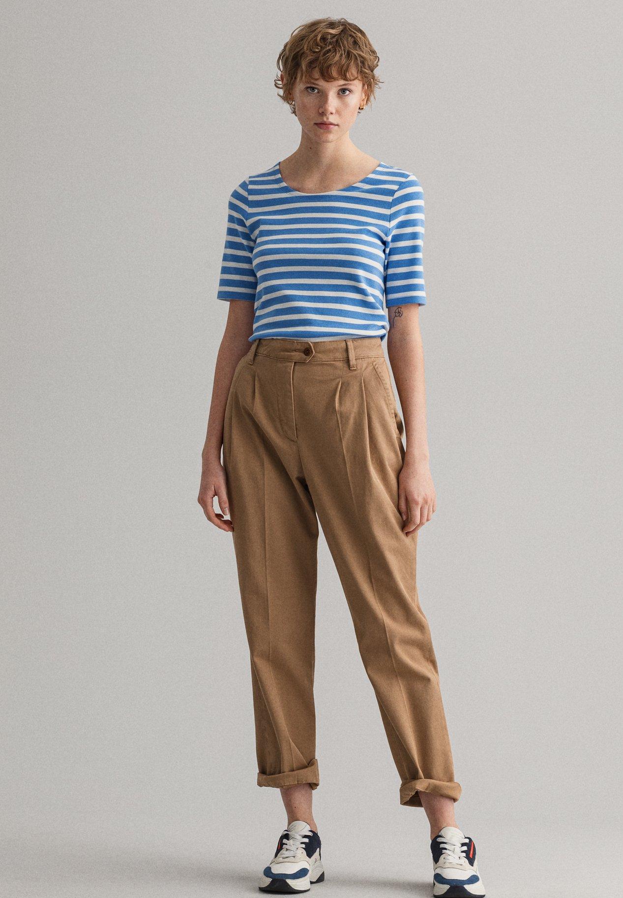 Damen GANT DAMEN SHIRT KURZARM - T-Shirt print - blau