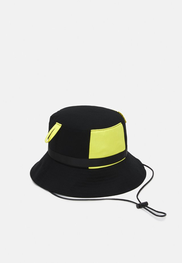 BUCKET - Chapeau - black/neon yellow
