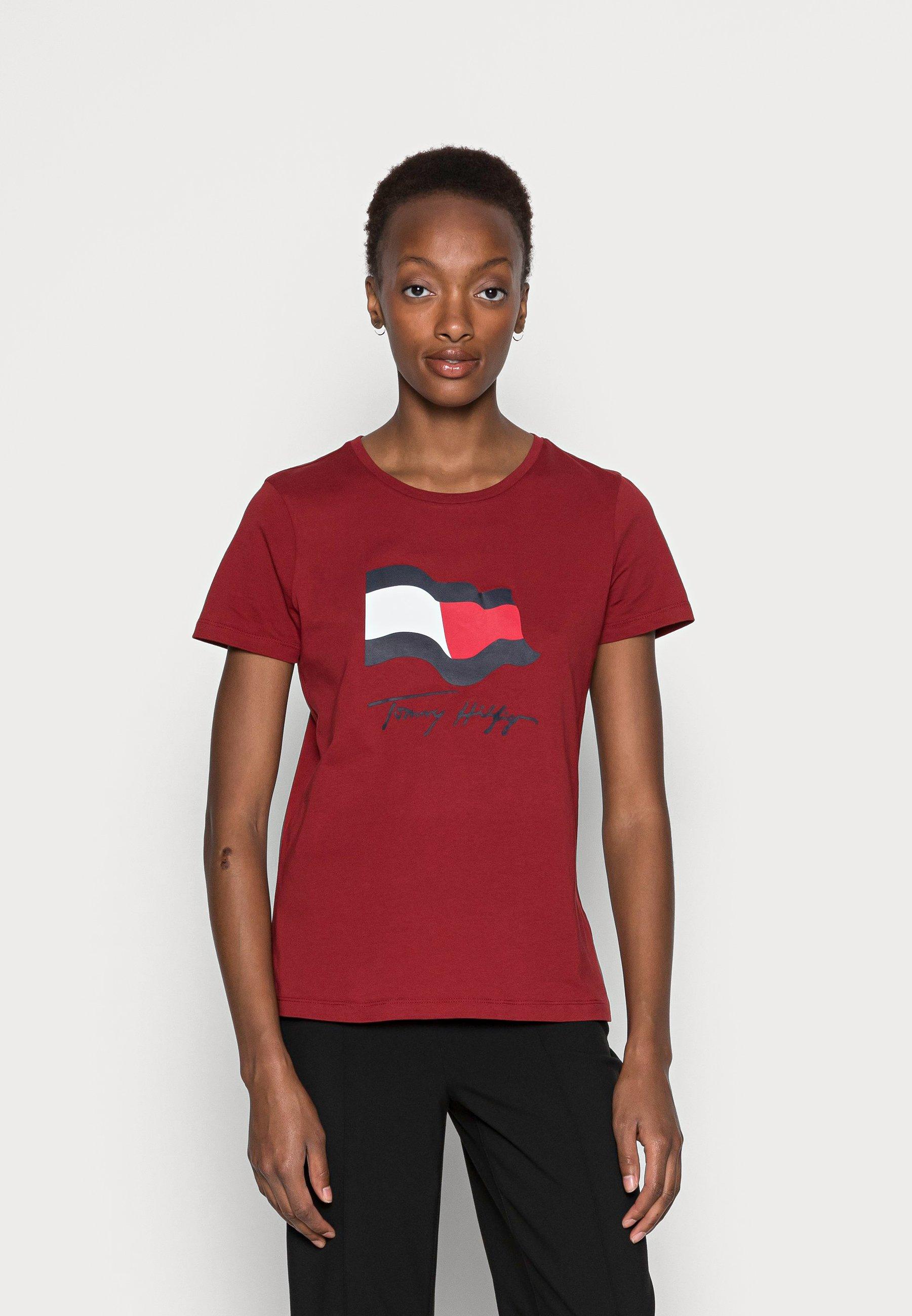 Damen REGULAR MOTION FLAG TEE - T-Shirt print